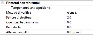 PRO_SAP: criteri di progetto elementi non strutturali