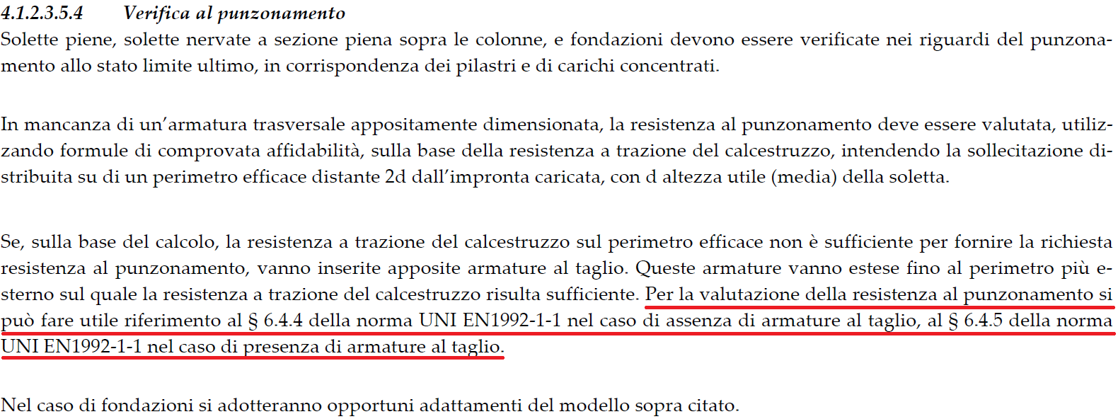 Paragrafo 4.1.2.3.5.4 delle NTC'18
