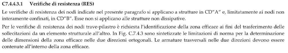§7.4.4.3.1 circolare 2019 - Progetto delle staffe nel nodo