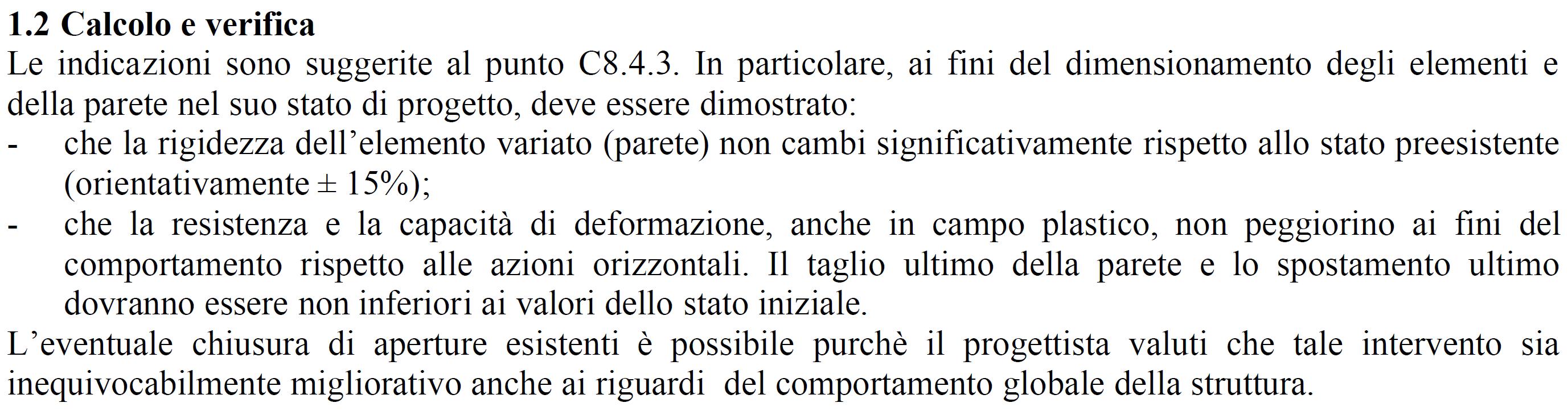Regione Toscana orientamenti interpretativi interventi locali. Variazione rigidezza significativa.