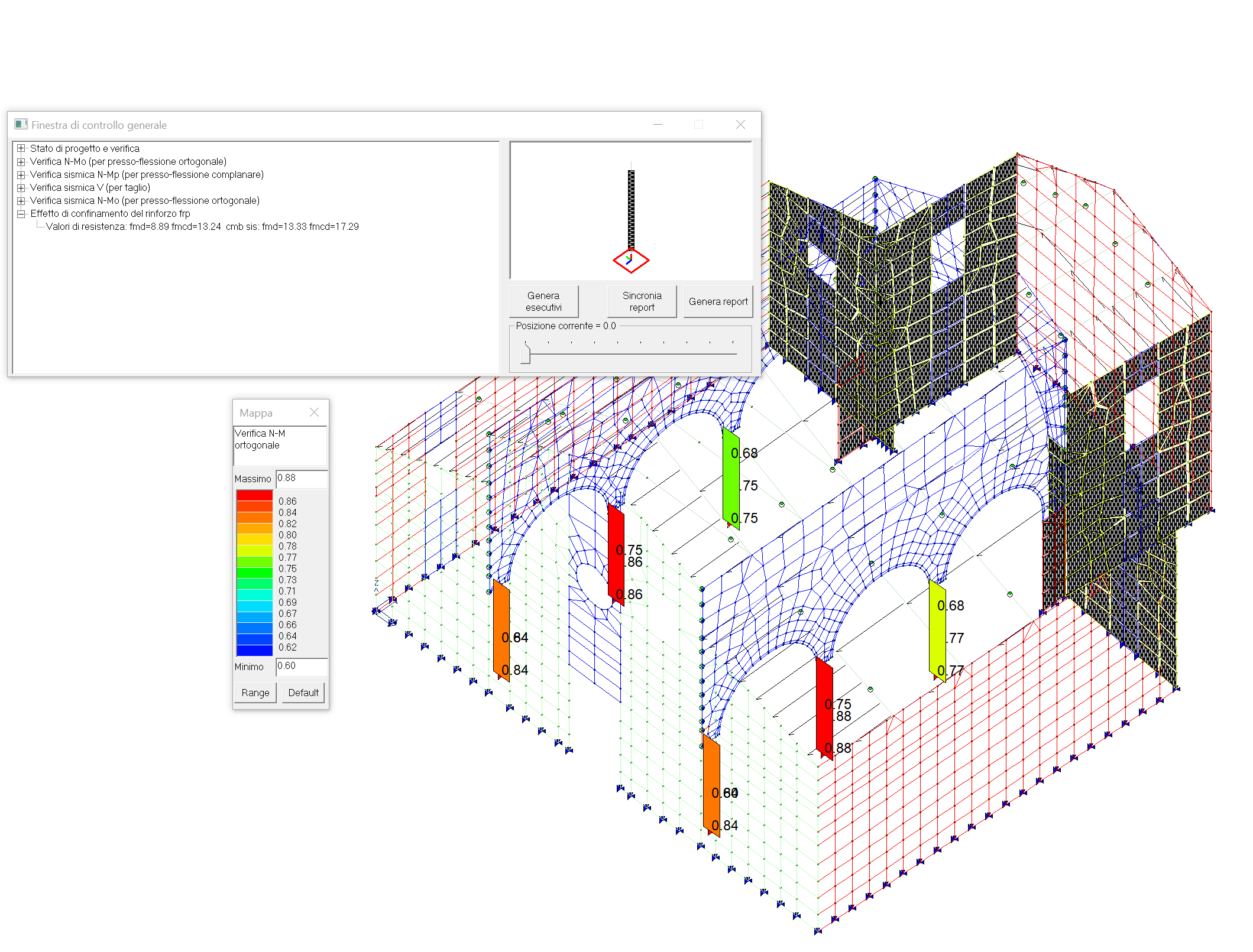 Verifica colonne in muratura rinforzate con FRP
