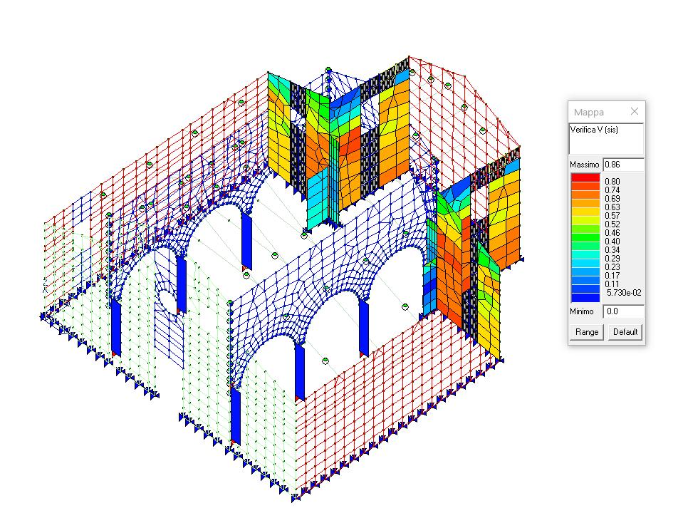 Verifiche a taglio elementi in muratura rinforzati con FRP