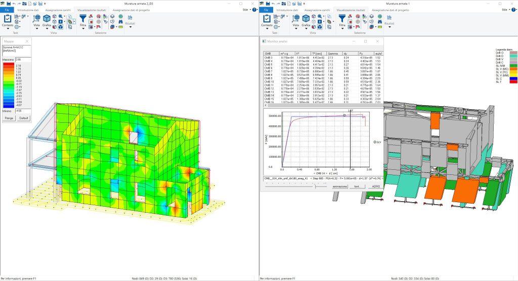 PRO_SAP tipi di analisi muratura armata