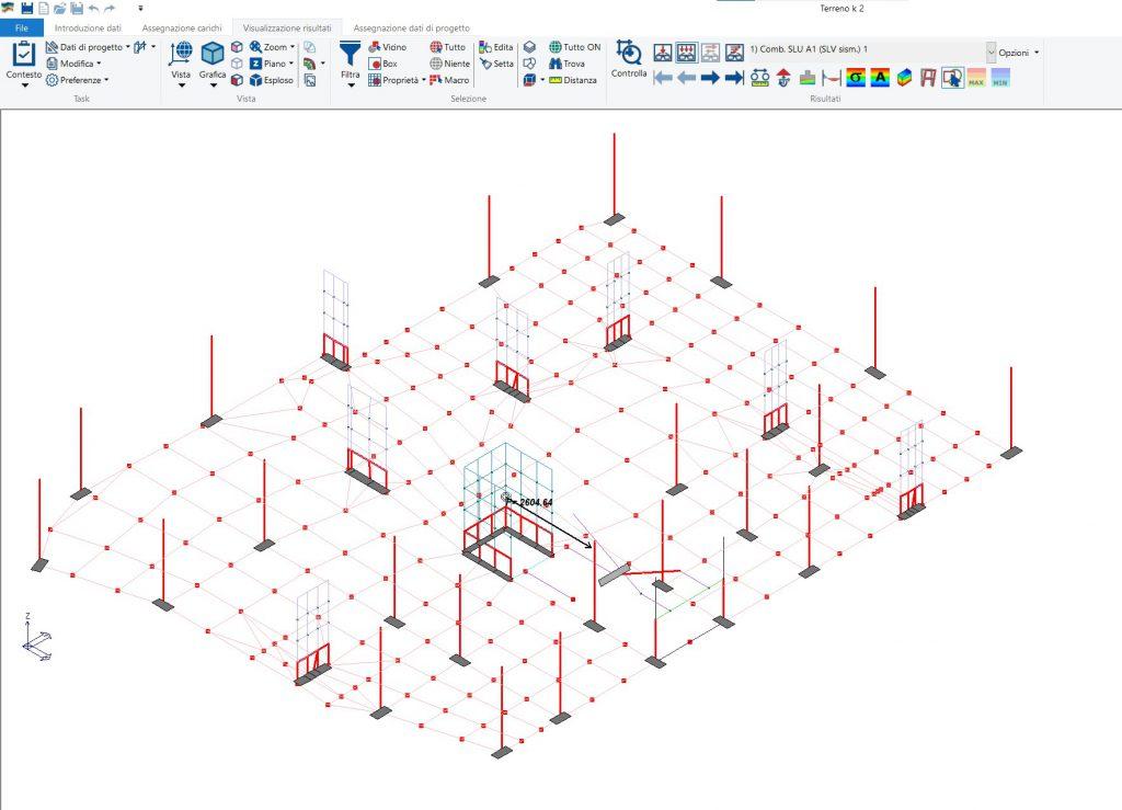 interazione terreno-struttura: controllo delle azioni globali PRO_SAP