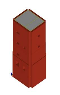 torre in muratura modello solido